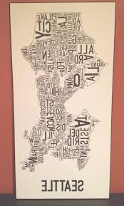 on best wall art in seattle with 35 best collection of seattle map wall art