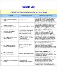 client contact list template client list template 9 free word pdf format download free