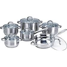 pot sets on sale. Brilliant Pot Heim Concept 12Piece Induction Ready Stainless Steel Cookware Sets With  Glass Lid Silver In Pot On Sale E