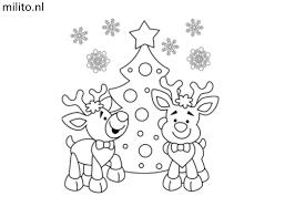 Kleurplaat Kerstman Disney