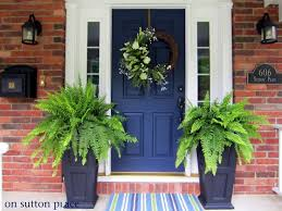 navy blue front door looks great with the brick design inspiration 17 paint color
