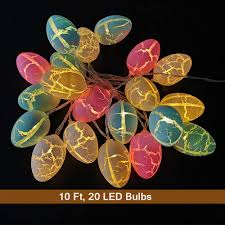 Paper Mache String Lights Wesgen 20 Easter Eggs Led String Lights Battery Operated