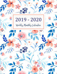 Calander Years 2019 2020 Weekly Monthly Calendar Two Years Daily Weekly