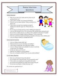 Ask Nanny Development Chart Nanny Interview Questions Grab Your Printable Checklist