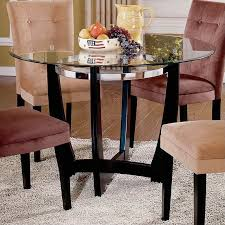 innovative 48 round dining table and steve silver company matinee 48 inch round glass dining table