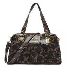 Coach Fashion Madison Logo Medium Coffee Satchels EIO