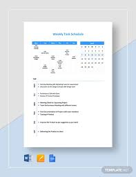 Weekly Task Schedule Free 15 Weekly Schedule Examples Templates Download Now