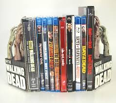 Walking Dead bookends review zombie hand bookends in action