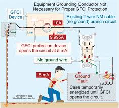 how gfcis work electrical construction & maintenance (ec&m) magazine Wiring Diagram Gfci Outlet with the exception of small amounts of leakage, the current returning to the power supply in a typical 2 wire circuit will be equal to the current leaving wiring diagram for gfci outlet