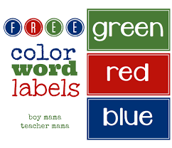 A wide variety of color label printer label paper options are available to you, such as usage, material, and custom order. Teacher Mama Free Color Word Labels Boy Mama Teacher Mama