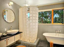 shower stall lighting. Rod Bathroom Modern With Ceiling Lighting Corner Shower Image By Design Build For Stall L Shaped Curtain