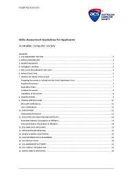 Skills Assessment Guidelines For Applicantspdf Academic Degree