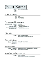 Resume Sample Word Document Resume Templates Word Doc Resume Template Word Doc Document Download