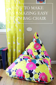 cool make a bean bag chair how to an amazing easy sewing el tutorial m f cil
