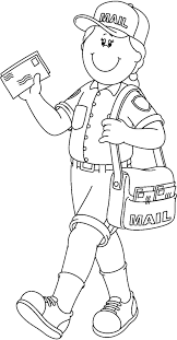 Small Picture Postman community helpers coloring pages ColoringStar