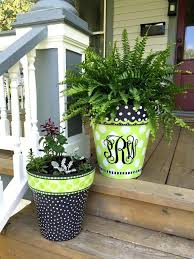 painted clay flower pots ceramic flower pot design ideas awesome best ideas about painted clay pots