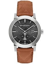 burberry watches macy s burberry men s swiss chronograph the city brown leather strap timepiece 42mm bu9905