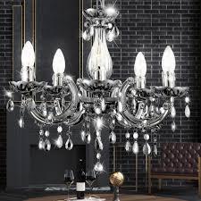 led crystal chandelier living room hanging chandelier lamp chrome ceiling light