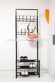 Coat Hanger And Shoe Rack Home furniture metal hat stands coat hanger stand with shoe rack 2