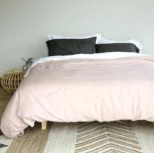 blush pink linen duvet cover and grey stonewashed duvets sheets pillowcases little additions du blush pink and grey duvet set cover