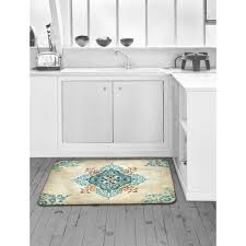 anti fatigue kitchen mats. Home Dynamix Designer Chef Blue Arabesque 24 In. X 36 Anti-Fatigue Anti Fatigue Kitchen Mats E
