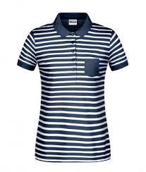 las polo striped navy white