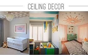 We love that parents are thinking of the ceiling as another space for  decoration in the nursery. How amazing is a GOLD CHEVRON ceiling?