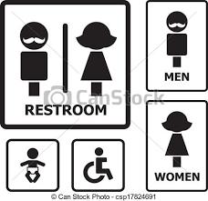 bathroom sign vector. Restroom Sign Set For Your Design Bathroom Vector H