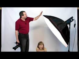 <b>Studio Flash</b> Lighting Portrait photography Large <b>Softbox</b> tutorial ...