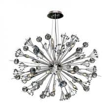 worldwide lighting w83111c24 starburst 20 light chrome finish and clear crystal sputnik chandelier