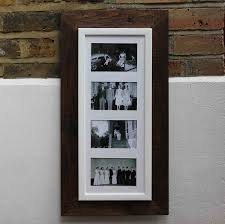 reclaimed wooden multi aperture photo frame