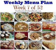 Weekly Meal Planning For One Weekly Meal Plan Menu Plan Ideas Week 7 Of 52 One
