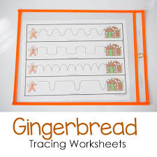 Gingerbread Tracing Worksheets - Fun with Mama