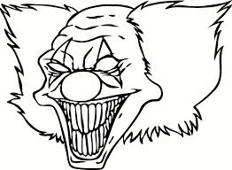 Small Picture Scary Clown Pictures To Color Coloring Pages For Kids And For
