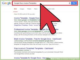 Free Invoice Template Google Docs Interesting How To Make An Invoice In Google Docs 48 Steps With Pictures