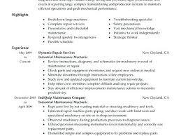 Maintenance Job Resume Objective Sample Resume Maintenance Worker Brilliant Ideas Of Maintenance