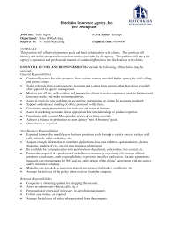 ... Pleasurable Insurance Agent Job Description Resume CV Cover Letter  Sales Help ...