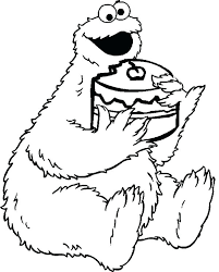 Cookie Monster Coloring Pages Valentines Day Cookie Monster Coloring