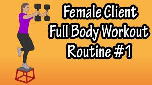 female client workout routine womens workout routines for the gym weight loss and toning