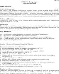 college algebra math additional topics for discussion include systems of equationatrices an instructor approved