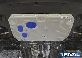 <b>Защита</b> картера и КПП, <b>алюминий</b>, <b>Rival для</b> Hyundai Creta ...