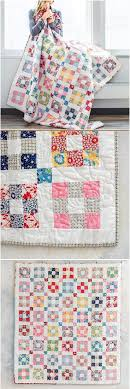 Hopscotch 1930's revival quilt by Craftsy. Easy 9 patch blocks ... & Easy 9 patch blocks make up this modern vintage vibe quilt. Jelly roll quilt  for easy piecing. Scrappy nine patch quilt pattern. Adamdwight.com