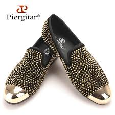New gold toe and gold <b>crystal handmade men loafers</b> men fashion ...