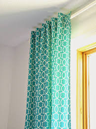 how to control the style and d of back tab curtains