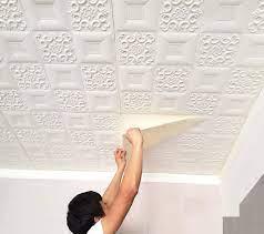 Nasmodo 3D Ceiling Wallpaper Tiles ...
