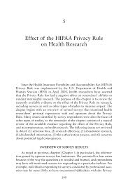 effect of the hipaa privacy rule on health research beyond the  page 199