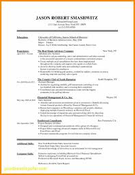 Finance Resume Examples Unique Resume Template Finance Inspirational