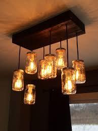 romantic edison bulb chandelier sparkle your room stunning 8 light mason jar chandelier with wood