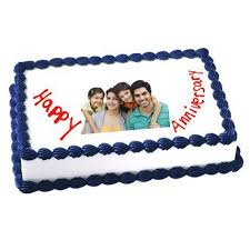 Happy Anniversary Cake Arabian Petals