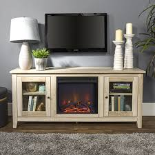 winmoor home transitional 60 fireplace tv stand white oak